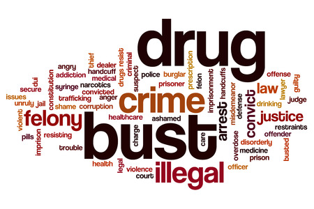 drug bust: Drug bust word cloud concept