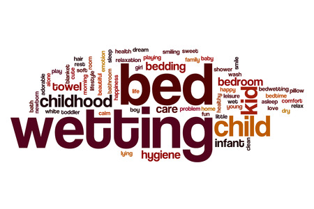wetting: Bed wetting word cloud concept