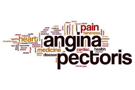 angina: La angina de pecho concepto de nube de palabras