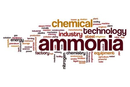 amoniaco: El amoníaco concepto de nube de palabras