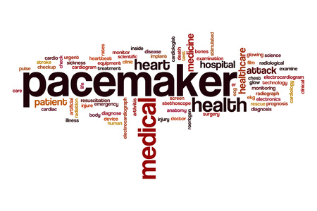 pacemaker: Pacemaker word cloud concept Stock Photo
