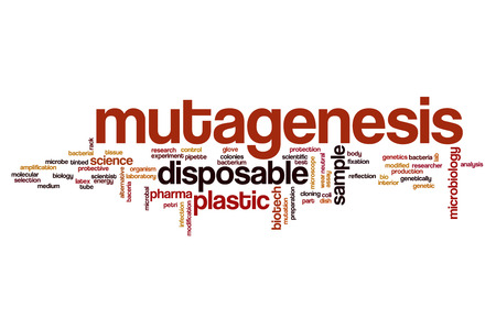 genetically modified organisms: Mutagenesis word cloud concept