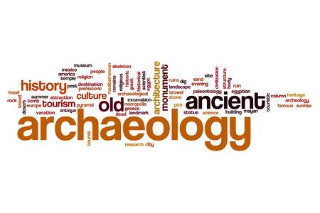 past civilizations: Archaeology word cloud concept Stock Photo