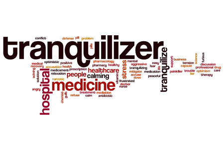 accuse: Tranquilizer word cloud concept Stock Photo