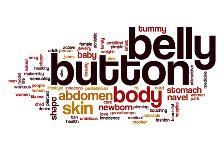 belly button: Belly button word cloud concept Stock Photo