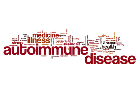 autoimmune: Autoimmune disease word cloud concept