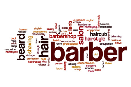 Barber word cloud concept Stock Photo