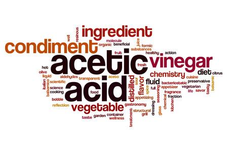 acido: Acético palabra ácido concepto de la nube