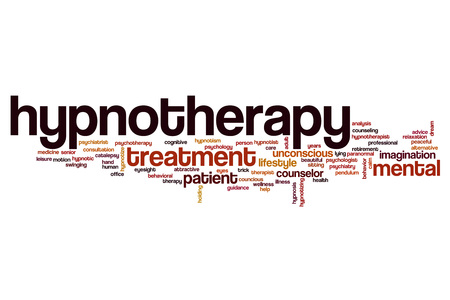 Hypnotherapy word cloud concept
