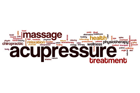 acupressure: Acupressure word cloud concept