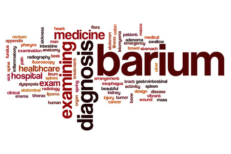 rectum: Barium word cloud concept Stock Photo