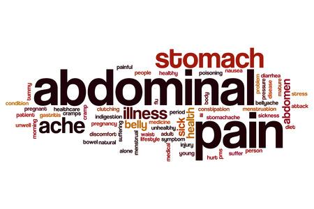 abdominal pain: dolor abdominal concepto de nube de palabras