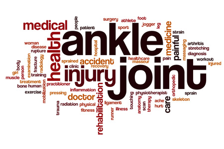 ankle: Ankle joint word cloud concept
