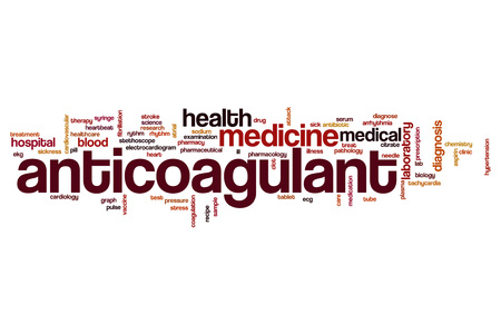 Anticoagulant word cloud concept
