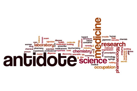 antidote: Antidote word cloud concept