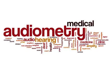 Audiometría concepto de nube de palabras