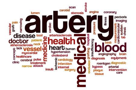 artery: Artery word cloud concept