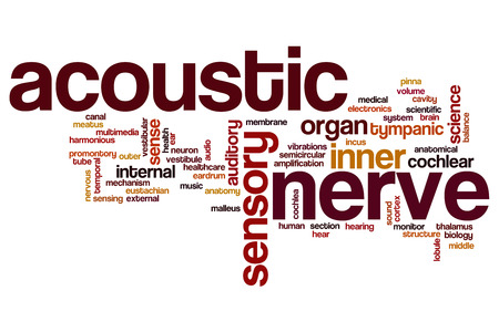 vestibular: Acoustic nerve word cloud concept