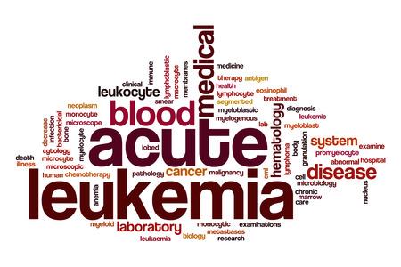 leucemia: La leucemia aguda concepto de nube de palabras