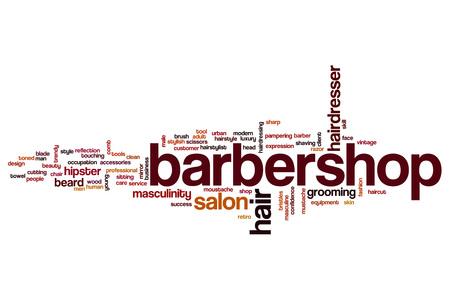 barbershop: Barbershop word cloud concept