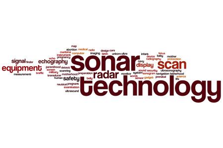 sonar: La tecnologia Sonar Word cloud concetto