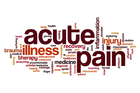 enhanced health: Acute pain word cloud concept