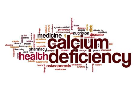 deficiency: Calcium deficiency word cloud concept