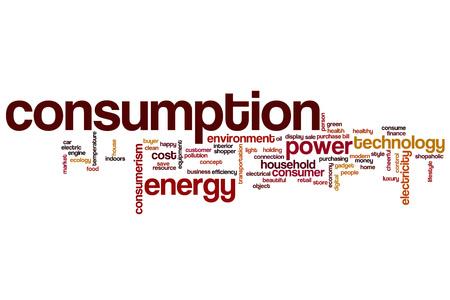 household money: Consumption word cloud concept Stock Photo