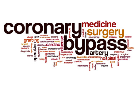 bypass: Coronary bypass word cloud concept