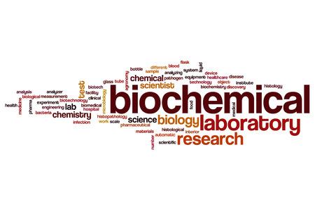 biochemical: Biochemical word cloud concept