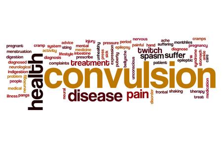 convulsion: Convulsión palabra concepto de la nube