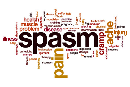 muscle spasm: Spasm word cloud concept
