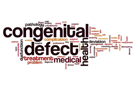 homeostasis: Congenital defect word cloud concept