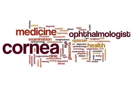 cornea: Cornea word cloud concept Stock Photo