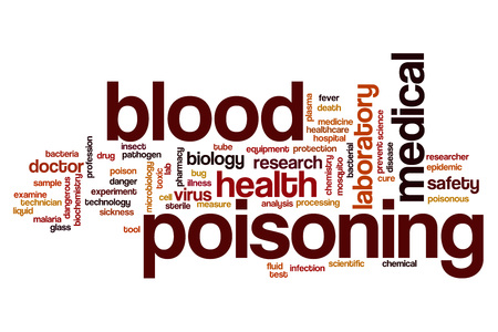 poisoning: Blood poisoning word cloud concept