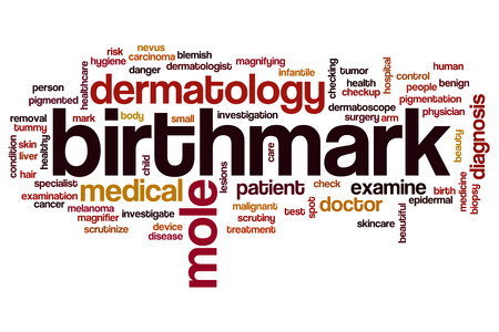 birthmark: Birthmark word cloud concept