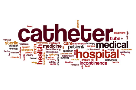 incontinence: Catheter word cloud concept