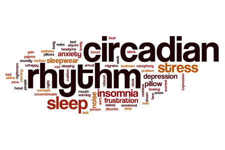snore: Circadian rhythm word cloud concept