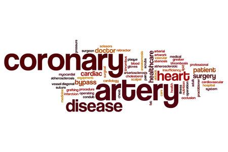 myocardial: Coronary artery word cloud concept