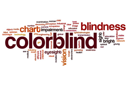 visual perception: Colorblind word cloud concept