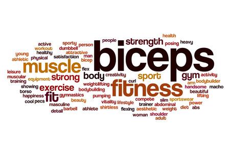 biceps: Biceps word cloud concept
