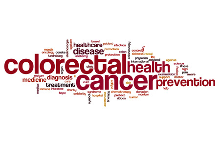 colorectal cancer: Colorectal cancer word cloud concept Stock Photo