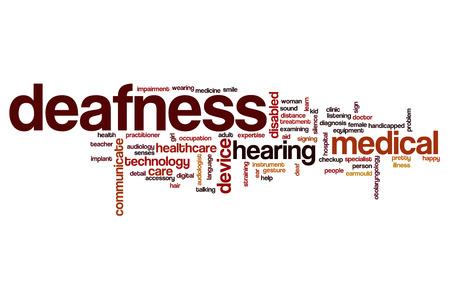 deafness: Deafness word cloud concept
