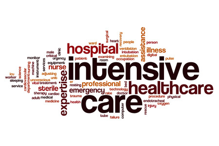 Intensive care word cloud concept