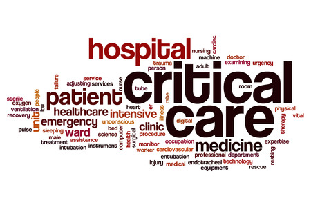 critical care: Critical care word cloud concept