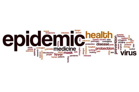 epidemic: Epidemic word cloud concept Stock Photo