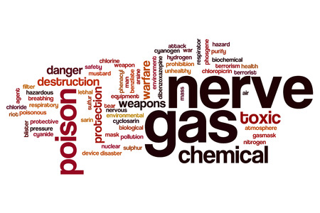 El gas nervioso palabra concepto de la nube