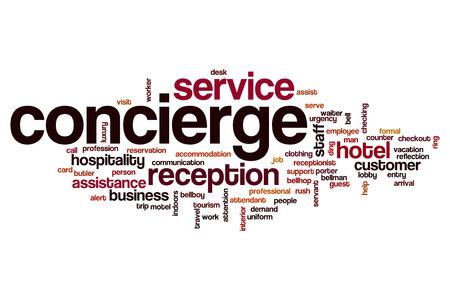 hospitality staff: Concierge word cloud concept