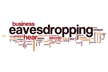 eavesdropping: Eavesdropping word cloud concept