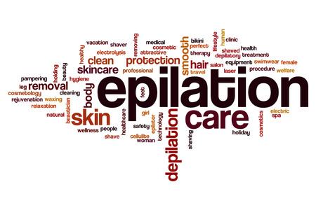 Epilation word cloud concept 版權商用圖片